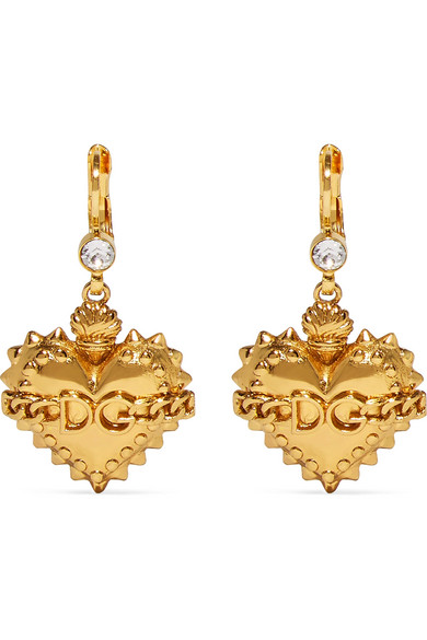 Dolce & Gabbana - Gold-plated Crystal Earrings