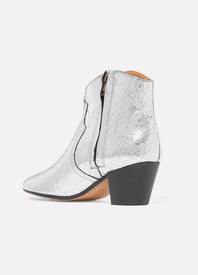 Isabel Marant Dicker Ankle Boots aus Craquelé-Leder mit Metallic-Effekt Shop Für Verkauf Extrem Zum Verkauf X1kI1bff