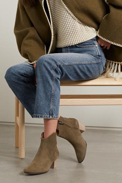 Isabel Dicker Marant | Dicker Isabel Ankle Boots aus Veloursleder 86fdba