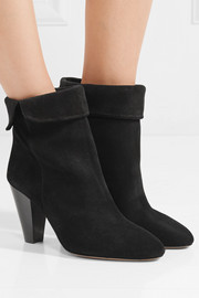 Isabel Marant Darilay fold-over suede ankle boots