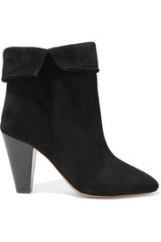 Darilay fold-over suede ankle boots
