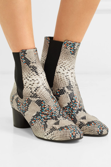 Isabel Marant Danelya Ankle Boots aus Leder mit Pythoneffekt