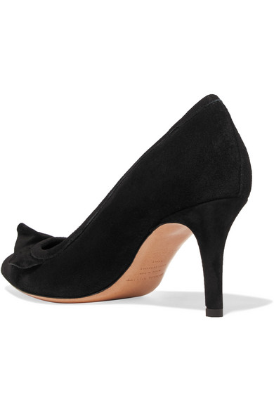Best Store To Get Cheap Price Outlet Reliable Poween Ruffled Suede Pumps - Black Isabel Marant Prices Online Top Quality For Sale NabWFPmNuU