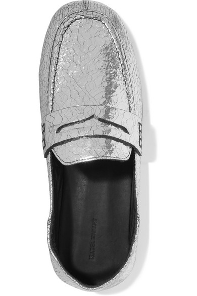 f204c48b55a Isabel Marant. Fezzy metallic cracked-leather collapsible-heel loafers.   198. Zoom In