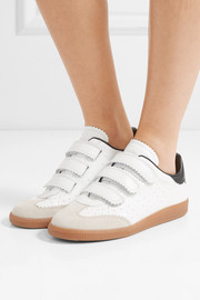 Isabel Marant Beth suede-trimmed leather sneakers