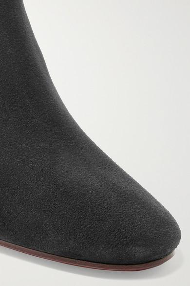 Isabel Marant aus   Dicker Ankle Boots aus Marant Veloursleder 02c8ab
