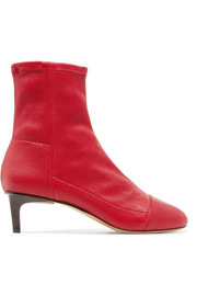 Isabel Marant Daevel paneled leather sock boots