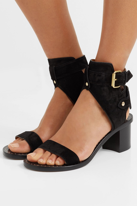 Black Jaeryn suede sandals | Isabel