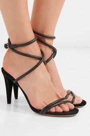 Abigua leather and suede sandals