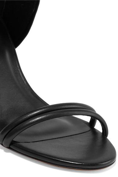 Melvy Leather Sandals, Black