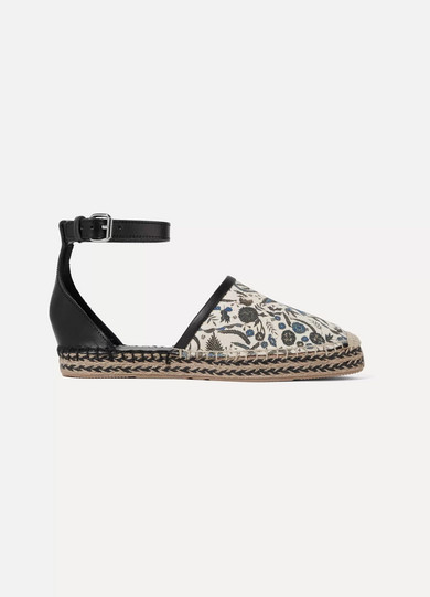 Carlyce Printed Canvas And Leather Espadrilles by Isabel Marant