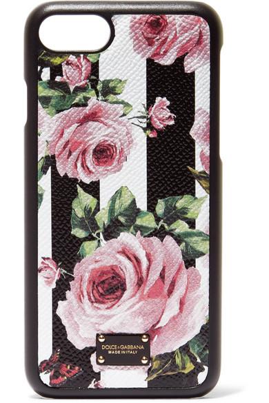Dolce & Gabbana Embelli Floral-print-cuir Texturé Iphone 7 Et 8 Plus Le Cas - Blanc Vente Pas Cher Nice 2NkTwwCbf
