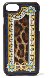 Dolce & Gabbana Printed textured-leather iPhone 7 case