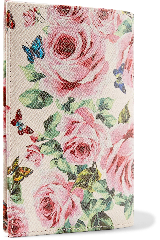 Tea Rose Metallic Printed Leather and