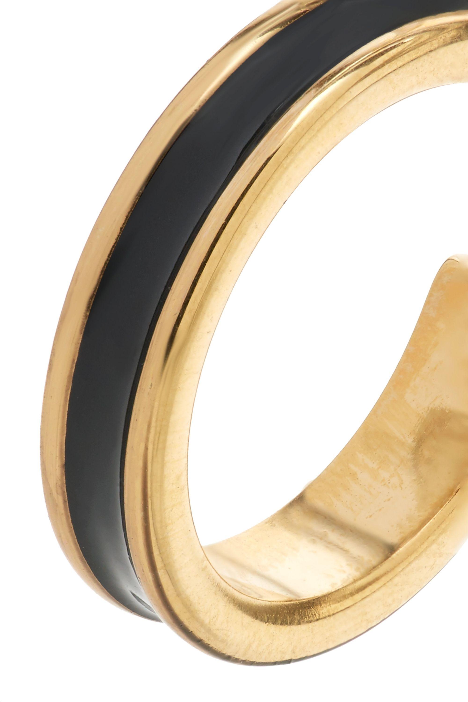 Isabel Marant Enameled gold-tone hoop earrings