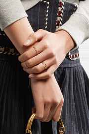 Isabel Marant Set of five gold-tone rings