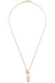 Isabel Marant Gold-tone enamel necklace