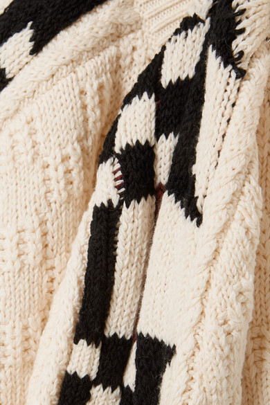 Isabellina Marant Laytonn Pullover Inlaid Pattern Of A Cotton Blend With