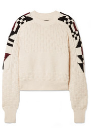 Isabel Marant Laytonn intarsia cotton-blend sweater