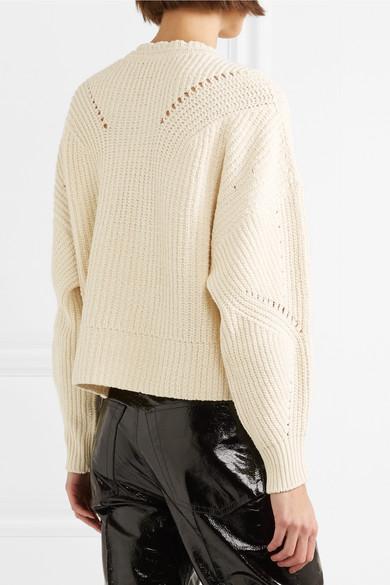 Isabel Marant Lacy Pullover aus einer Baumwollmischung mit Details in Pointelle-Strick und Schnürung