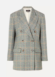 Isabel Marant Telis oversized checked tweed blazer