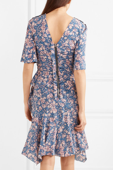 b40d90263f Isabel Marant | Brodie floral-print stretch-silk crepe dress | NET-A ...