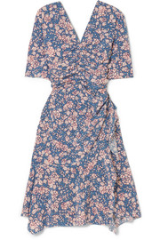 Brodie floral-print stretch-silk crepe dress