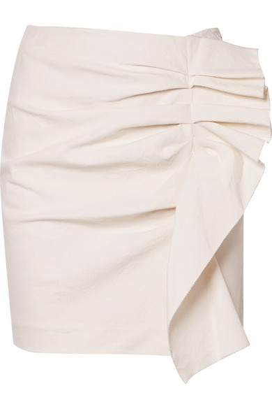 Lefly Ruffled Cotton Blend Mini Skirt by Isabel Marant