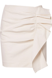 Isabel Marant Lefly ruffled cotton-blend mini skirt