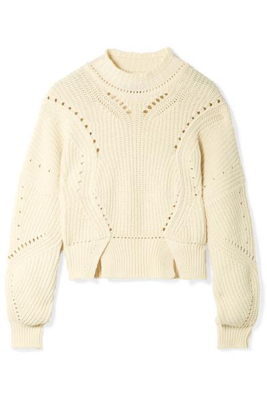Isabel Marant Lane verkürzter Pullover aus einer gerippten Baumwollmischung