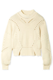 Isabel Marant Lane cropped ribbed cotton-blend sweater