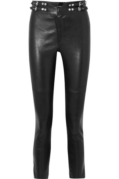 Isabel Marant Preydie eng geschnittene Hose aus Leder