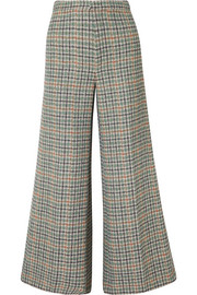 Trevi checked tweed wide-leg pants