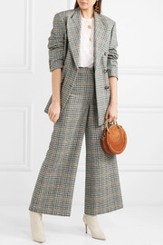 Isabel Marant Trevi checked tweed wide-leg pants