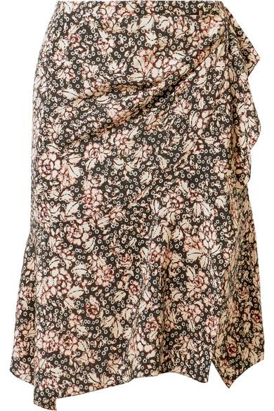 Isabel Marant Becka Minirock aus einer Seidenmischung mit Blumendruck