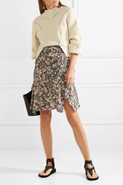 Becka floral-print silk-blend mini skirt