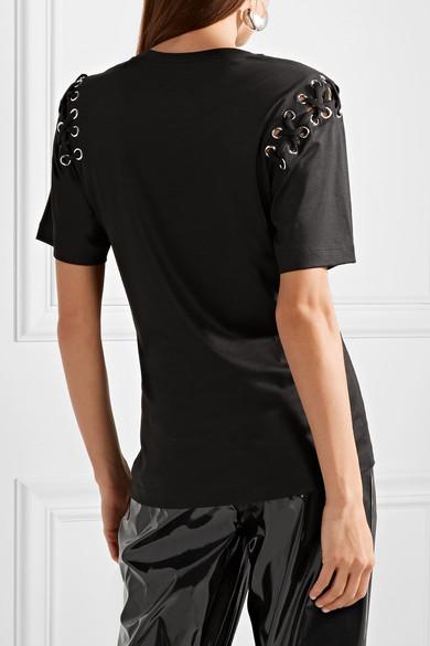 Isabel Marant Yaden T-Shirt aus einer Baumwoll-Modalmischung mit Schnürung