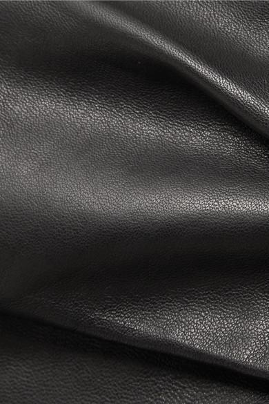 Isabel Marant Baixa Minirock aus Leder in Wickeloptik