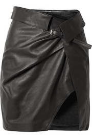 Isabel Marant Baixa leather wrap mini skirt