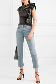 Isabel Marant Foster crinkled patent-leather top