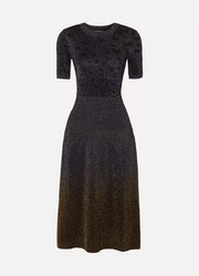 Bottega Veneta Metallic jacquard midi dress