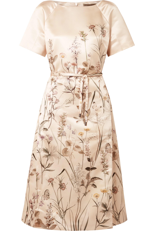 Bedrucktes Kleid aus Duchesse-Satin