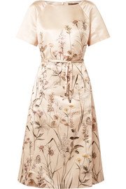 Bottega Veneta Printed duchesse-satin dress