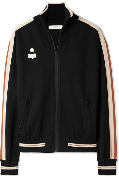 Darcy Striped Stretch Knit Track Jacket by Isabel Marant Étoile