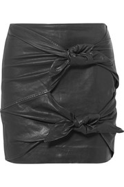 Gritanny leather mini skirt