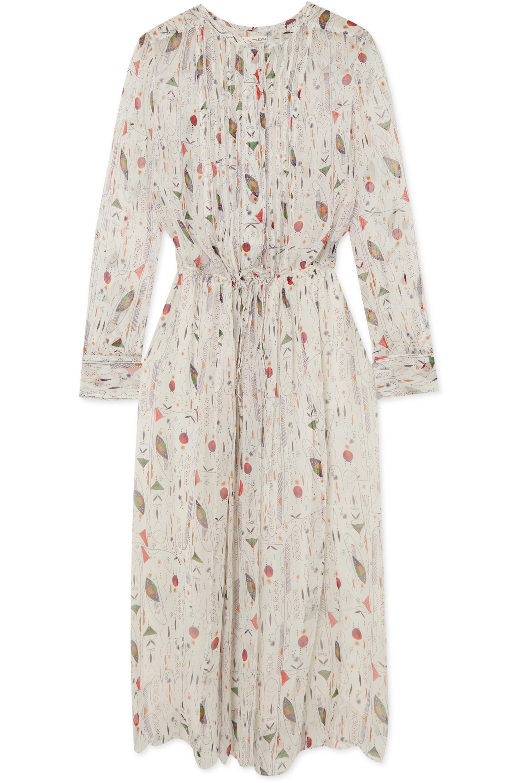 Isabel Marant Étoile Baphir pleated printed silk-crepon dress