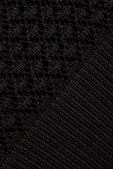 Bottega Veneta Pullover aus gerippter Baumwolle mit Häkelpartien