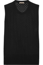 Bottega Veneta Perforated silk tank