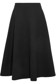 Bottega Veneta Wool-crepe midi skirt