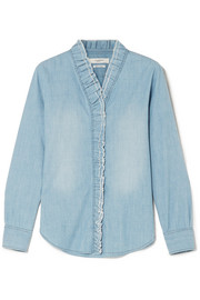 Isabel Marant Étoile Lawendy ruffled chambray blouse